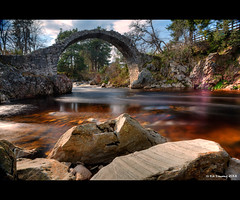 Carrbridge (Kit Downey) Tags: park old bridge water canon river landscape eos carr scotland spring highlands rocks long exposure arch mark iii may historic national l multiple 5d kit usm f28 ef hdr cairngorms carrbridge downey strathspey 2470mm packhorse badenoch scottishlandscape 2013 histrorical dulnain ndx1000filter 5dmiii