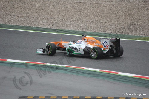 Paul Di Resta in Free Practice 1 at the 2013 Spanish Grand Prix