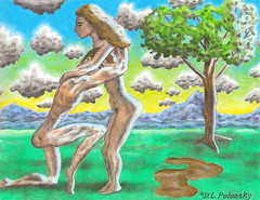 Begging for Forgiveness (D.L. Polonsky.com) Tags: woman man sexy art boston nude artwork couple erotic drawing massachusetts begging allston forgiveness dlpolonsky