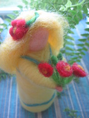 for Heather (Willowpoppy) Tags: flowers wool yellow spring handmade waldorf may craft felt needle commission maiden naturetable forheather 2013 willowpoppy