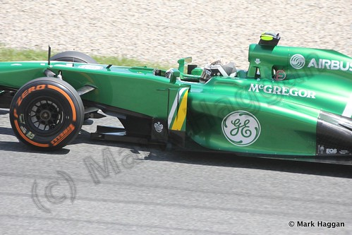 Giedo van der Garde in Free Practice 2 at the 2013 Spanish Grand Prix
