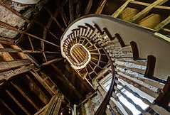 Nautilus (odin's_raven) Tags: light urban abandoned stairs photoshop spiral temple photography nikon stair decay exploring explorer wideangle chapel case spooky staircase urbanexploration exploration raven derelict hdr highdynamicrange decayed urbanexploring ue urbex photomatix nikor odins d700 1424mm talkurbex odinsraven odinsravenphotography