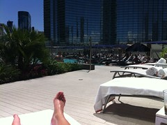 Vdara Pool Deck (CourtneyMay) Tags: phone iphone iphonepicture
