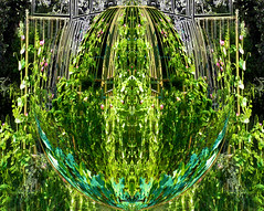 Mirror play in the Garden (gailpiland) Tags: green photography mirrored organic hypothetical thegalaxy flickraward thebestofday gailpiland digitalarttaiwan ringexcellence peatrellis flickrstruereflection1 rememberthatmomentl1 vigilantphotographersunite