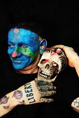 (Marta Marley) Tags: smile tattoo skull piercing sonrisa tat tatuaje calavera facetattoo tuerto facepiercing facialtattoo perforacin tatuajefacial piercingfacial martamarley