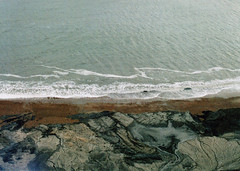 The Disappearing Village (auspices) Tags: beach me 35mm village pentax super isle wight disappearing
