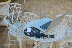 Outdoors Notebook Computer Work ([visual media]) Tags: brazil vacation white green home southamerica glass sunglasses metal horizontal brasil work 35mm computer garden notebook table mouse outdoors office chair nikon aluminum portable holidays technology saopaulo desk furniture lawn nopeople smartphone mousepad pro iphone freelancer 15inch macbook