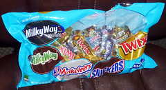 Candy Bag (Photo Nut 2011) Tags: food bag candy twix chocolate snickers milkyway 3musketeers milkywaymidnight