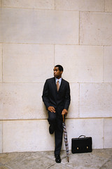 CB042347 (anchor1203) Tags: newyorkcity people usa men wearing photography 1 clothing holding suits colorphotography intelligence northamerica africanamericans americans blacks males northamericans newyorkstate everydayscenes umbrellas adults outfits containers businessmen businesspeople midatlantic briefcases