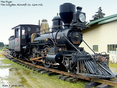 the flyer gore nz (Alan P Jones) Tags: dh croyden gore flyer moth loco steam dehavilland nz apjones mandeville airfield