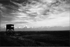 Bradwell Watch Tower (PaulHP) Tags: white black tower monochrome watch essex bradwell bradwellonsea dengiepeninsula