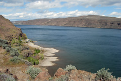 Columbia over Old Vantage (Sotosoroto) Tags: river washington columbiariver vantage gingkopetrifiedforest