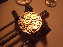 DSCF4302 (bigjohnf1) Tags: macro stem mechanical small watch hobby automatic crown wrist gears making jewel 1965 bulova
