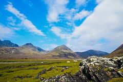 Torrin View (stumpyheaton) Tags: uk blue sky mountain skye green grass clouds landscape scotland nikon rocks day view cloudy south peak hills loch isle cuillin torrin slapin d5100