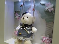 NICHO URSINHA LAURA (BILUCA ATELIER) Tags: de led infantil porta com beb quarto nicho menina maternidade atelier enfeite nichos ursinha biluca