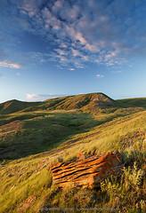 70 Mile Butte at sunset, Grasslands National Park (Branimir Gjetvaj) Tags: summer sky cloud canada rock vertical landscape nationalpark hills northamerica badlands prairie geology saskatchewan sunrisesunset grassland westerncanada hillsides grasslandsnationalpark canadianprairies stratuscloud branimirgjetvaj