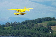 G-MDJE (markyharky) Tags: yellow aircraft amphibian cuttysark caravan lochlomond seapl