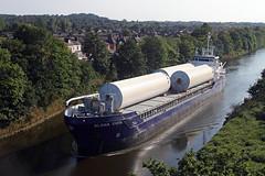 'Alana Evita' cantilever bridge 7th July 2013 (John Eyres) Tags: manchester canal warrington ship alana evita cantilever
