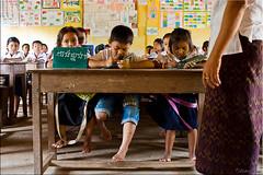 Classroom 1354 (Ursula in Aus) Tags: school children cambodia khmer classroom uniforms siemreap primary earthasia sandanschool