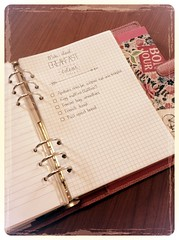 Working on setting up a morning routine! (venetiakim) Tags: morning pink breakfast handwriting list filofax organized uploaded:by=flickrmobile flickriosapp:filter=aardvark aardvarkfilter