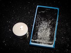 The End. (Ilkka Hakamki) Tags: broken finland nokia nikon candle sold cellphone screen microsoft end 1855 nikkor bought d7000