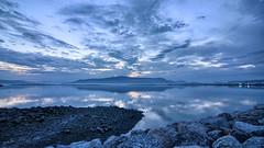 The dawn of Reykjavik (1) (Dachaz) Tags: blue wallpaper dawn iceland reykjavik 169 hdr waterscape dachaz