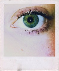 """""""She Had A Galaxy In Her Eyes"""" (LeviSinclair) Tags: blue portrait color colour macro green eye girl face closeup vintage eyes capture feature edit iphone"""
