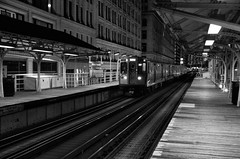 People Get Ready (benchorizo) Tags: chicago blackwhite nikon cityscape cta nightshot trains nightshots eltrain downtownchicago chicagoist banias eltracks d7000 benchorizo romeobanias