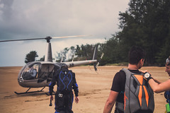 Heli Jumps (Kyle Taylr) Tags: ocean beach water canon skydiving jump live australia adventure helicopter skydive heli parachute unbound gopro
