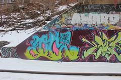 Oc (NJphotograffer) Tags: new railroad bridge graffiti nj rail mob crew jersey graff oc mhs trackside