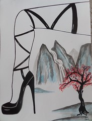 Leg and Landscape (James Andrews1) Tags: china sexy feet japan landscape highheels stilettos asianart sexyshoes inkpainting chinesebrushpainting jamesandrews sumiink asianlandscape blackhighheels sexyheels inkandwatercolor sumiepainting japaneseinkpainting jamesandrewsart legandlandscape legandlandscapepainting sexybrushpainting sexychinesebrushpainting
