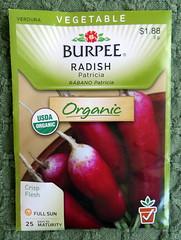 Patricia Radish Seeds (genesee_metcalfs) Tags: garden vegetable seeds radish
