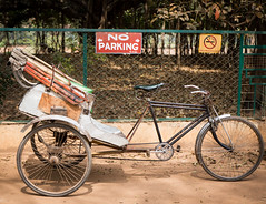 No Parking (matt_tsim) Tags: india parking cycle rickshaw santiniketan bolpur