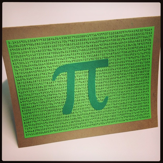 Our external evaluator delivered pies and this cute card to our office in honor of National PI Day! Make a wish on 3.14.15 at 9:26:53.