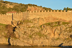 Sunset at the wall (nls451) Tags: madrid sunset espaa sunlight rio wall architecture river spain europa europe eu medieval oldtown espagne muralla oldeurope oldarchitecture buitrago comunidadmadrid riolozoya lozoyariver madridriver buitragolozoya nls451
