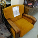 Leather and fabric chair