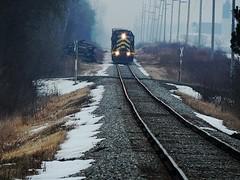 INER slowly approaching Edon Ohio (Matt Ditton) Tags: ohio train iner edon