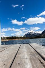 Mount Rundle (museum98) Tags: mountain lake water dock banff mountrundle vermilionlakes vermilionlake rundlemountain