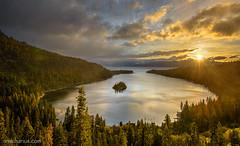 Emerald Bay Sunrise #2 - Nikon D800E & AF-S 2,8/14-24mm (Ansgar Hillebrand) Tags: usa lake sunrise landscape landscapes nikon laketahoe bluehour landschaft emeraldbay landschaften landscapephotography abigfave nikond800 nikond800e usa2014