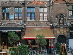 Sint Veerleplein (aridleyphotography.com) Tags: city travel urban bar digital europe cityscape belgium belgique olympus february dslr canopy ghent gent gand 2015 vsco sintveerleplein vscofilm olympusomd olympusomdem10