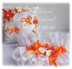 O1CKXX5qAFA (alisakarol) Tags: wedding orange garter bride handmade ring ringbearer weddinggift ringpillow weddingaccessories accssories
