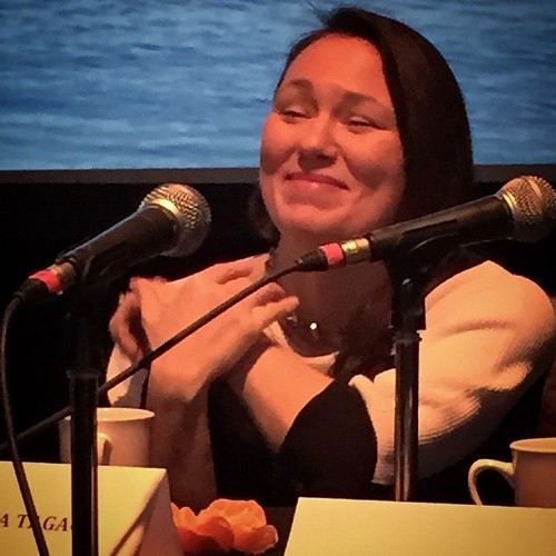 Tanya Tagaq talks about her performance to Robert Flaherty's Nanook of the North at the Available Light Film Festival industry forum #yxy #Yukon