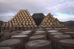 Speyside Pyramids (Curl66) Tags: wood yard canon landscape photography scotland pyramid wine barrel storage pile whisky shape moray cooperage cask speyside