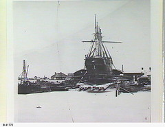 """""""Lagina"""" on Fletcher's Slip, Birkenhead. - Photograph courtesy of the State Library of South Australia (City of PAE Libraries' local historical photos) Tags: industry transport birkenhead sailingship shipbuilding portadelaide lagina riversea fletchersslip statelibraryofsacollection"""