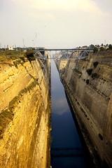 Grce, vacances de Pques 1987. Canal de Corinthe, vers le nord et le golfe de Corinthe (Marie-Hlne Cingal) Tags: 1987 greece grce  hells  diaponumrise