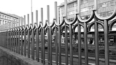 loopy (Harry Halibut) Tags: city bw castle blancoynegro branco square one blackwhite high european noiretblanc steel sheffield preto brett half council 1997 handrail 1995 s1 commission zwart wit railings weiss rounded bianco blanc development nero regional payne stainless polished allrightsreserved highly noire funding metres schwatz contrastbysoftwarelaziness 2015andrewpettigrew sheff1503080035