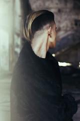 (Al)one (isabellabubola) Tags: light portrait haircut black male film beautiful fashion hair neck model soft industrial alone natural emotion body pastel grunge atmosphere portraiture indie ambient fade emotional emotive alternative feelings