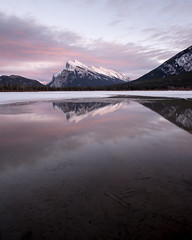 Mount Rundle I (Sandra Herber) Tags: winter sunset lake snow canada ice alberta mountrundle banffnationalpark vermilionlakes