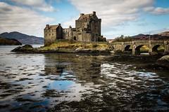 Eileen Donan Castle (jasonmgabriel) Tags: bridge lake mountains reflection building castle water clouds landscape scotland highlands scenery highlander loch eileen donan