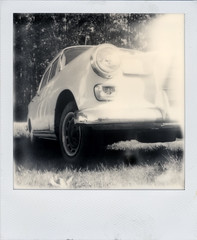 Mercedes (R. Drozda) Tags: film car alaska polaroid sx70 forsale mercedesbenz parked fairbanks chenahotspringsroad pipelinecrossing drozda parkandsell impossibleprojectbwfor600